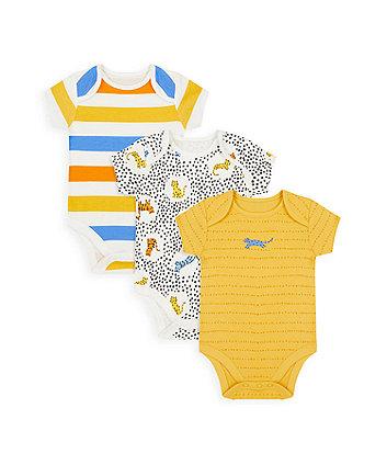 Mothercare Little Leopard Bodysuits - 3 Pack
