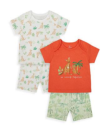 Mothercare Kangaroo Shortie Pyjamas - 2 Pack