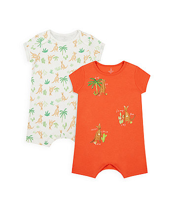 Mothercare Jump For Joy Rompers - 2 Pack