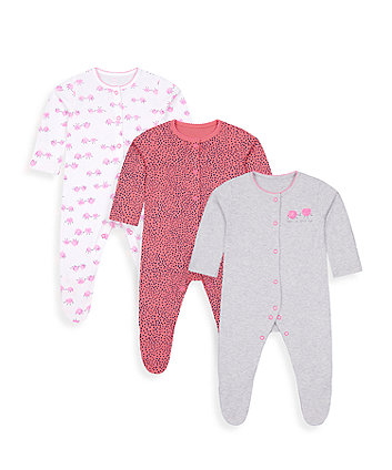 Mothercare Apple Of Your Eye Sleepsuits - 3 Pack