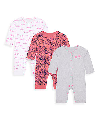 Mothercare Apple Of Your Eye Footless Sleepsuits - 3 Pack