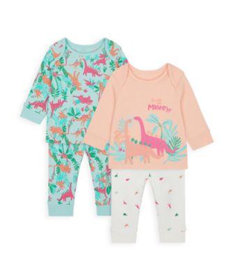 Mothercare Girls Floral Dino Pyjamas - 2 Pack