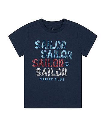 Mothercare Navy Sailor T-Shirt