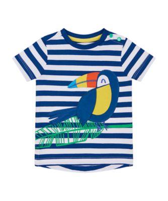 Mothercare Save The Rainforest Stripe Parrot Short Sleeve T-Shirt