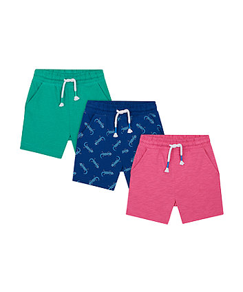 Mothercare Gecko Shorts - 3 Pack