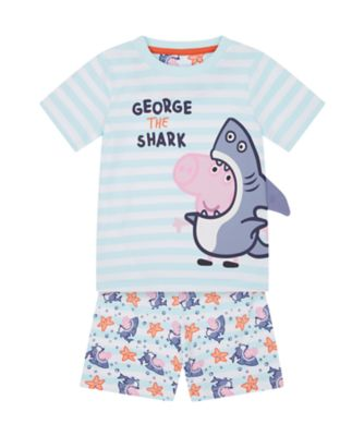 Mothercare Boys George The Shark Character Short Sleeve Pyjamas
