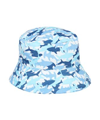 Mothercare Boys Shark Print Fisherman Hat