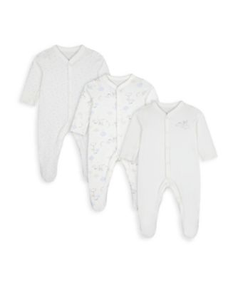 Mothercare Unisex Special Delivery Sleepsuits - 3 Pack