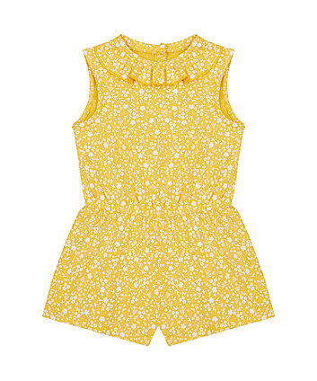 Mothercare Mustard Floral Playsuit