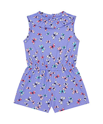 Mothercare Butterfly Floral Playsuit
