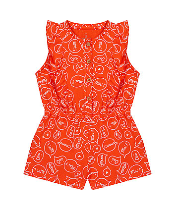 Mothercare Red Frill Playsuit