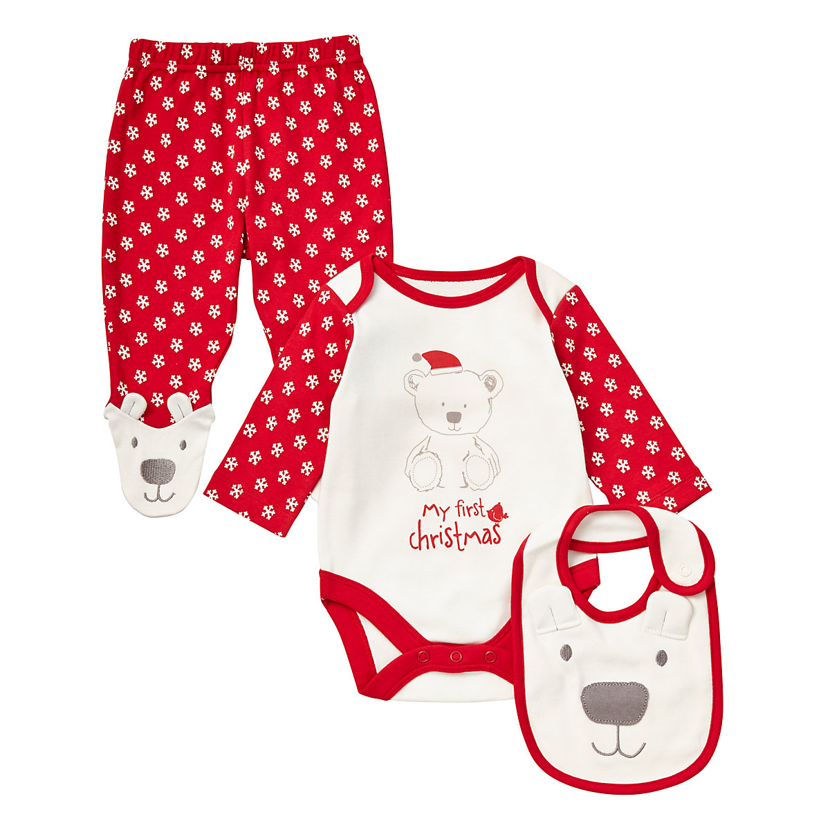 Mothercare Unisex My First Christmas - 3 Piece Set - Christmas Gifts