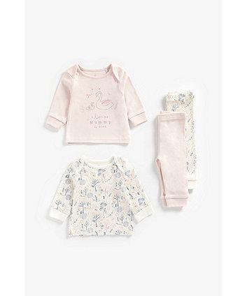 Mothercare Love Mummy Organic Cotton Pyjamas - 2 Pack