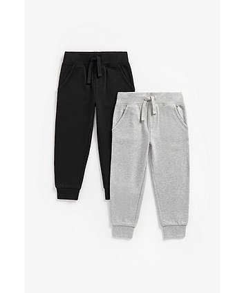 Mothercare Black And Grey Marl Joggers - 2 Pack