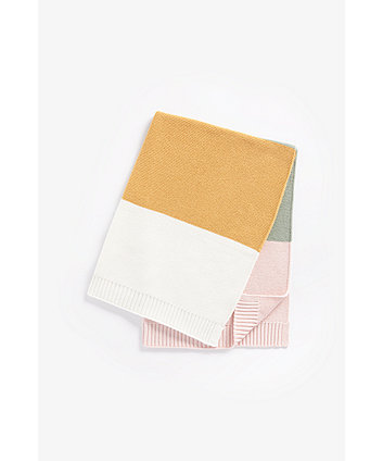 Mothercare Colour-Block Knitted Shawl