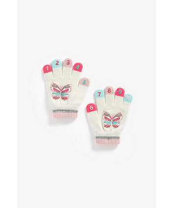 Mothercare Butterfly Magic Counting Gloves