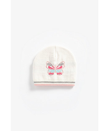 Mothercare Butterfly Knitted Magic Beanie Hat