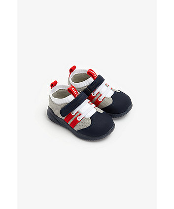 Mothercare First Walker Red Stripe Trainers