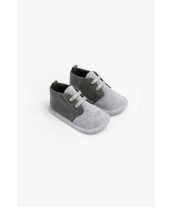 Mothercare Grey Borg-Lined Desert Pram Boots