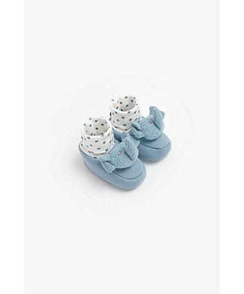 Mothercare Elephant Rattle Socktop Booties