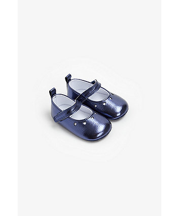 Mothercare Navy Heart Pram Shoes