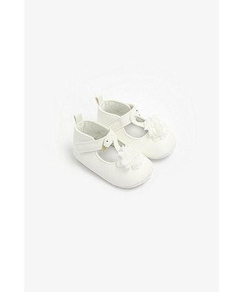 Mothercare Swan T-Bar Pram Shoes