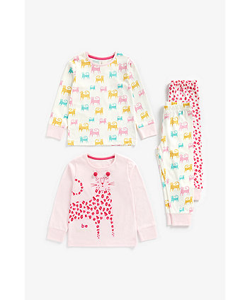Mothercare Leopard Pyjamas - 2 Pack