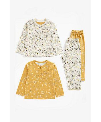 Mothercare Floral Wide-Leg Pyjamas - 2 Pack