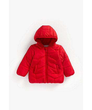Mothercare Red Fleece-Lined Jacket