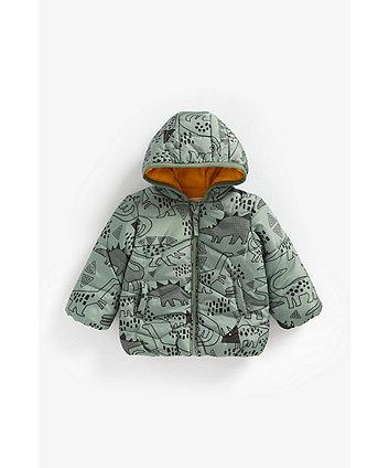 Mothercare Dinosaur Fleece-Lined Jacket