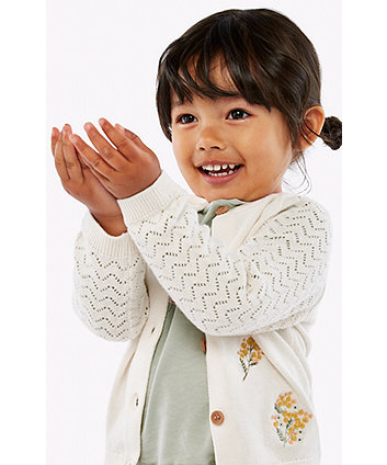 Mothercare Floral Knitted Cardigan
