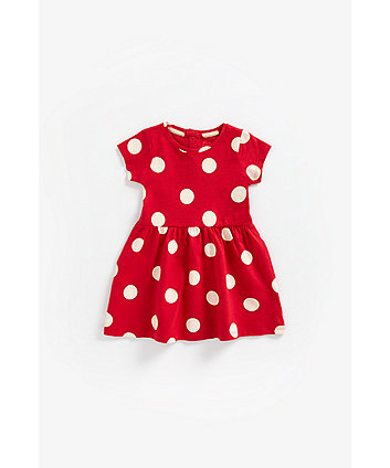 Mothercare Red Spot Jersey Dress