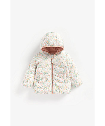 Mothercare Floral Fleece-Lined Jacket