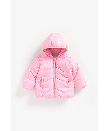 Mothercare Pink Spot Fleece-Lined Jacket
