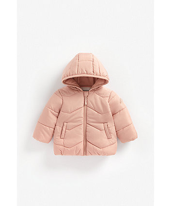 Mothercare Misty Rose Fleece-Lined Jacket