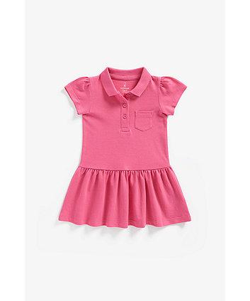 Mothercare Pink Pique Polo Dress