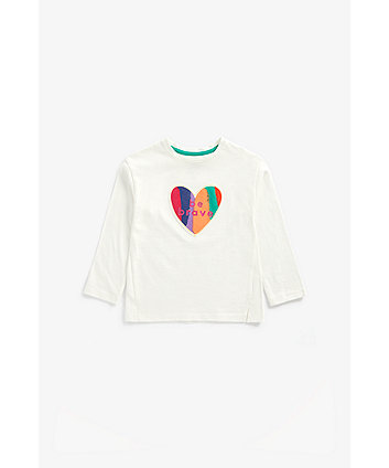 Mothercare White Be Brave Long-Sleeved T-Shirt