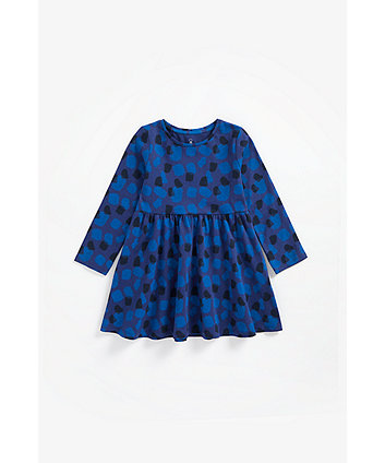 Mothercare Blue Printed Jersey Dress
