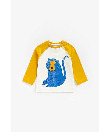 Mothercare Monkey Long-Sleeved T-Shirt