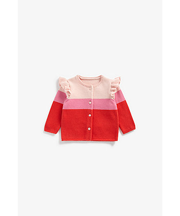 Mothercare Striped Knitted Cardigan