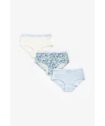 Mothercare Ditsy Floral Hipster Briefs - 3 Pack